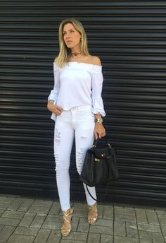 Nati Vozza do Blog de Moda Glam4You dá dica de look total branco.