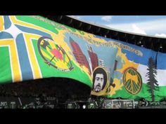 Timbers Army tifo vs. Seattle Sounders 2012