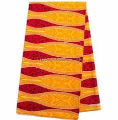 African Fabric by the yard, orange glitter fabric -WP938B