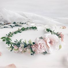 A personal favorite from my Etsy shop https://www.etsy.com/listing/538494832/bridal-flower-crown-bridal-floral-crown
