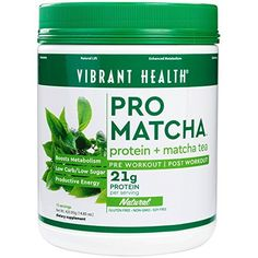 Vibrant Health - Pro Matcha, Whole Food Protein Supplement, Natural, 15 Servings by Vibrant Health >>> You can find out more details at the link of the image.