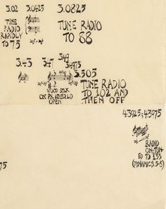 John Cage (1912–1992). Water Music (detail), 1952. India ink on 10 sheets of paper with colophon sheet (Each): 11 × 17 in. (27.9 × 43.2 cm). Overall (Sight): 54 3/8 × 33 3/4in. (138.1 × 85.7 cm) Whitney Museum of American Art, New York; purchase, with funds from an anonymous donor 82.38a–k © 1960 by Henmar Press Inc., C.F. Peters Corporation sole selling agent. All rights reserved, used with permission.