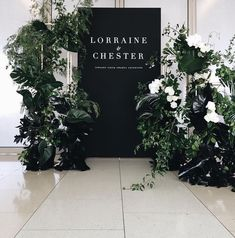 Wedding Ceremony Ideas Entrance Welcome Signs Ideas For 2019 Best Wedding Colors, Wedding Color Schemes, Wedding Themes, Wedding Designs, Modern Wedding Decorations, Modern Wedding Ideas, Modern Wedding Flowers, Wedding Entrance, Wedding Signage