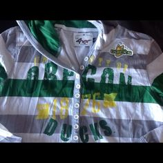Hooded Oregon Ducks Shirt Long sleeve hooded soft T-shirt.  Worn a few times.  No stains or signs of wear. Tops Tees - Long Sleeve