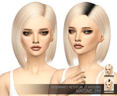 Miss Paraply: Maysims 144 hair retextured • Sims 4 Hairs