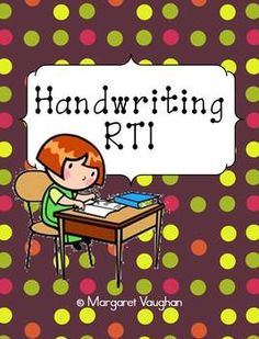 Handwriting RTI - great for students of any age who need help with handwriting