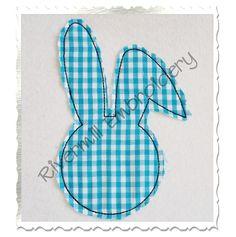 $2.95Raggy Bunny Head Applique Machine Embroidery Design