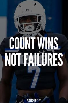 Count your wins, not your losses. #FootballQuotes #SportQuotes #Motivation #Inspiration #Football #Nxtrnd #Training Best Football Quotes, First Football, Football Motivation, Sport Motivation, Motivational Quotes For Athletes, Mouth Guard, Sport Quotes, Hawks, Motivation Inspiration