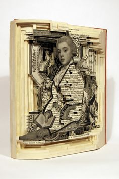 Book as Art. Art made from a book. WOW. Thanks to @Suzi Holm-Test Holm-Test…