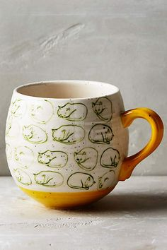 someone buy this for me! Cat Study Mug - anthropologie.com