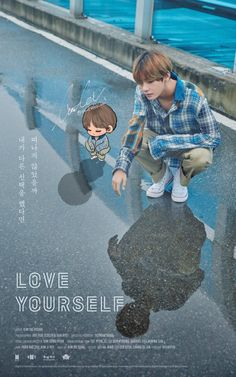 AAAHHH THATS SO CUTE! Tae and Chibi Tae! As if Tae wasn't cute enough on his own