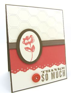 A Thank You card using the Oh, Hello Stamp Set from Stampin' Up!