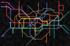 Colorful NEON London Tube map - Neon Maps