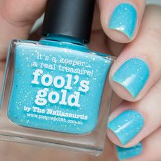 piCture pOlish Fool's Gold by The Nailasaurus Swatch http://picturepolish.com.au/fools-gold