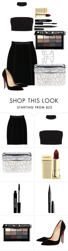"""Untitled #1550"" by fabianarveloc on Polyvore featuring Chanel, Lipstick Queen, Lord & Berry, Marc Jacobs, Bobbi Brown Cosmetics, Christian Louboutin and APM Monaco"