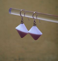 White Vintage Plastic Retro Earrings by TheJewelster on Etsy, $8.95