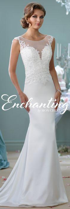 Enchanting by Mon Cheri Spring 2016 ~Style No. 116129 #laceweddingdress