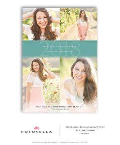 Senior Graduation Invitation - High School Boy or Girl Graduation Announcement Template - 5x7 Card - MADISON - 1419