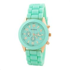 Mint Color Silicone Watch