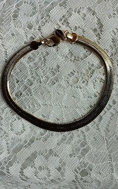 Vintage Signed Monet Tapered Herringbone Bracelet  in Jewelry & Watches, Vintage & Antique Jewelry, Costume, Designer, Signed, Bracelets   eBay
