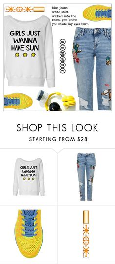 """""""Girls just wanna have sun!"""" by simona-altobelli ❤ liked on Polyvore featuring Topshop, Athletic Propulsion Labs and Tory Burch"""
