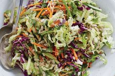 Orange Sunflower Slaw. Don't be fooled by the name. This delightful blend of orange, ginger, mint, and fresh vegetables is so much more than a cabbage-y side salad.