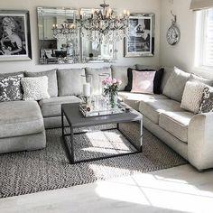 future home interior Living Room Grey, Living Room Sets, Home Living Room, Apartment Living, Living Room Furniture, Living Room Designs, Casa Disney, Living Room Decor Inspiration, Deco Design