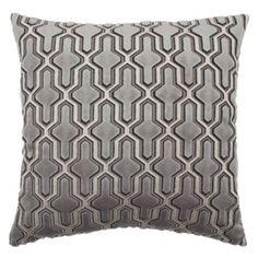 "Delancy Pillow 24"" - Grey from Z Gallerie"