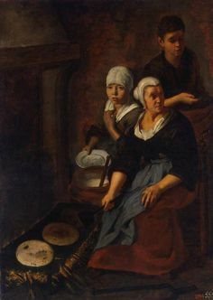 Baking of Flat Cakes by Bartolome Murillo  Date:1645-50