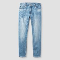 Men's Athletic Fit Jeans - Mossimo Supply Co. Light Wash 32x30, Blue