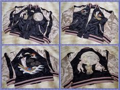SUKAJAN Reversible Rayon bomber jacket ( japanese S ) Moon Rabbit Treasure ship…