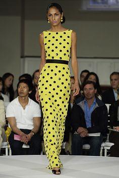 yellow-black polka dots