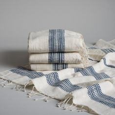 Spa quality and timeless appeal. Hand-spun, Fair Trade, traditionally-inspired textile collection producedin Ethiopia by women. Each piece has it's own persona