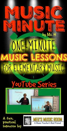 One-minute music lessons for elementary music teachers! New videos added daily! These videos cover important concepts in music in an easy-to-understand format to show kids! Each video only gives students the most important information, so they are perfect for introducing concepts or for leaving for a sub! #musiceducation #musicteacher #elementarymusic #musiclessons #musicsub