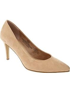Womens Sueded Stiletto Pumps $6.99 @ Old Navy