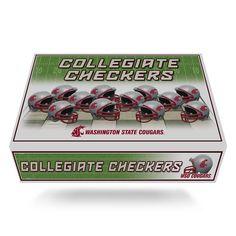 Washington State Cougars NCAA Checkers Set
