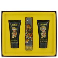 Ed Hardy By Christian Audigier Gift Set -- 1.7 Oz Eau De Toilette Spray + 3.3 Oz Shower Gel + 3.3 Oz Body Lotion