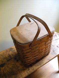 Vintage Antique Basket by HeartsDesireFiber