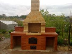Home of the Pathfinder and Starfinder RPGs. The Golem's Got It! Brick Grill, The Golem, Cabin, House Styles, Garden, Outdoor Decor, Home Decor, Courtyards, First Up Canopy