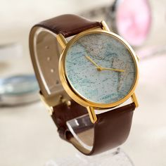 World Map Womens Watche