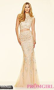 Buy Long Lace High Neck Two Piece Prom Dress by Mori Lee at PromGirl
