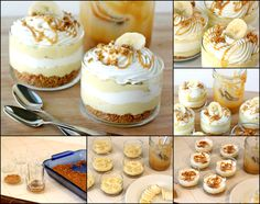 Banana-caramel dessert with cream (Бананово-карамельный десерт с кремом)