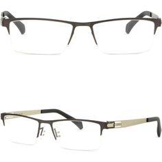 4b5b6fca46 Gray Half Rim Light Men s Titanium Frame Prescription Glasses Transitions  Lenses  Unbranded Half Frame Glasses