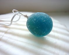 Sea Glass Necklace Beach Marble Seaglass Teal by TheMysticMermaid, $45.00