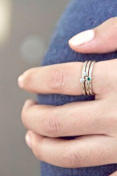 so cute! Mini stacking rings. $25.00, via Etsy.
