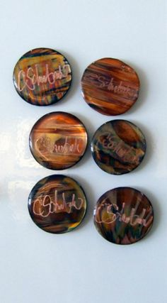 PIPER :: Signed Copper Magnets By Christi Schwebach