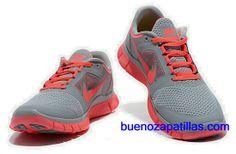 new product ffece f7f47 Mujer Nike Free Run 3 Zapatillas (color   empeine y en el interior - gris.  Interior GrisAir Max ...
