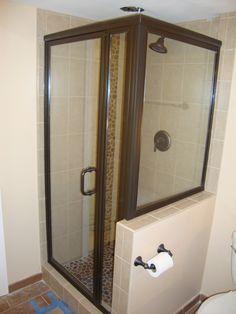 Shower Door Next To Toilet Rectangular Enclosures Contractors Wardrobe Gl Hinges