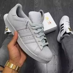 Custom Grey Adidas  SuperStar  Low  sold by NopeSneakers. Shop more products from NopeSneakers on Storenvy, the home of independent small businesses all over the world.