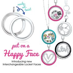 Origami Owl Interchangeable Twist Lockets and Locket Faces | Great for Mother's Day gift! | Shop StoriedCharms.com
